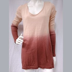 Pure + Good Anthropologie Knit top Dip Dye Sz S